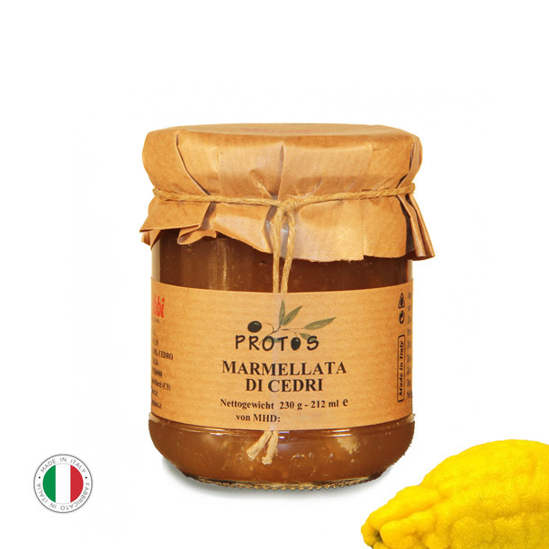 Zitronatzitrone (Cedro) Marmelade, Marmellata di Cedri, 230g