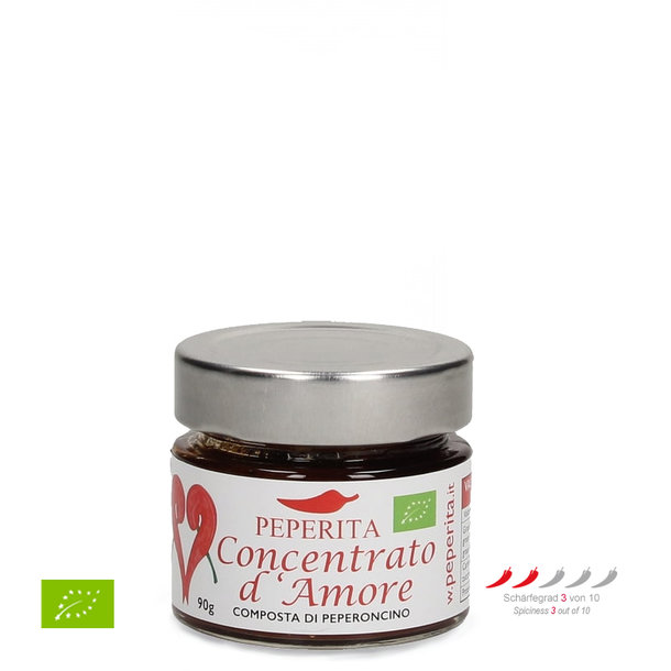 Concentrato D\'Amore, Cayenne chilli jam, Organic, 90g