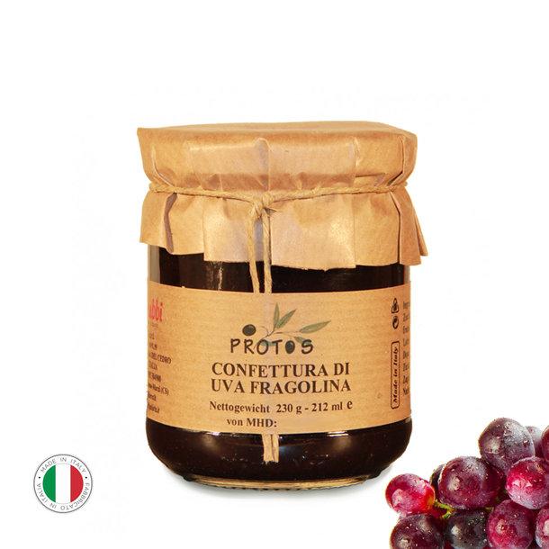 Grapes jam, Confettura di uva fragolina, 230g